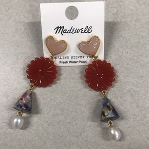 Madewell statement drop earrings - new!